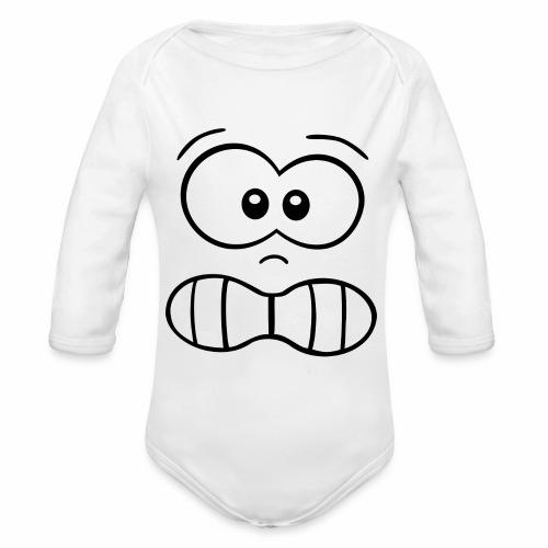 Gesicht - Baby Bio-Langarm-Body