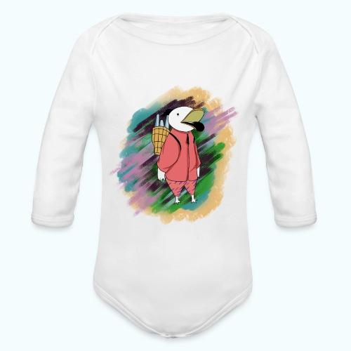 80s Comic Style Graffiti - Organic Longsleeve Baby Bodysuit