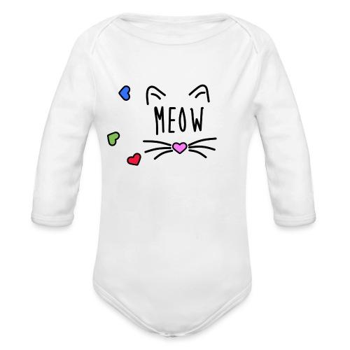 Meow - Body orgánico de manga larga para bebé