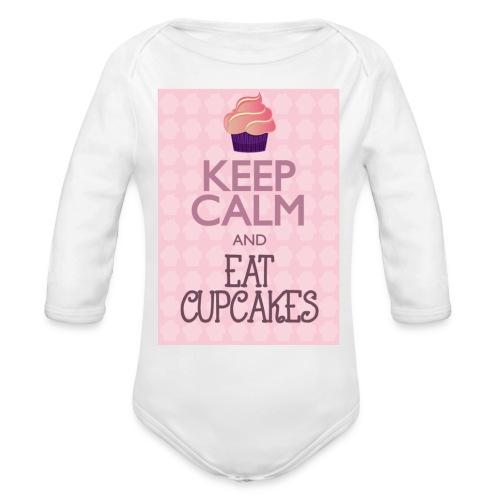 cupcake - Body ecologico per neonato a manica lunga