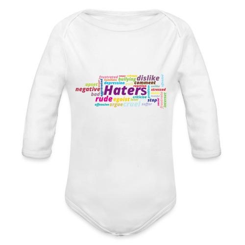 Haters - Body orgánico de manga larga para bebé
