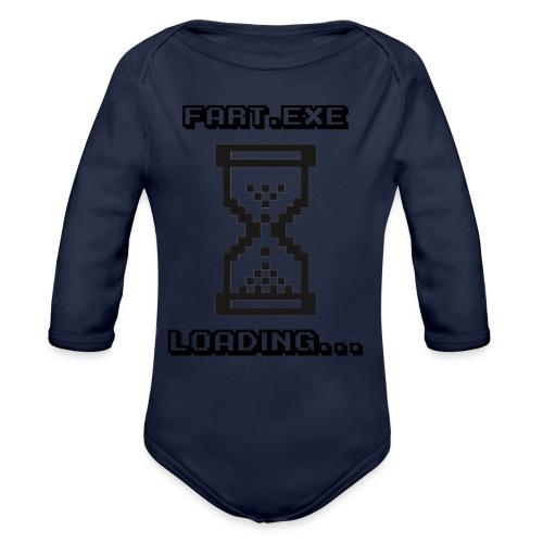 Fart Loading - Organic Longsleeve Baby Bodysuit
