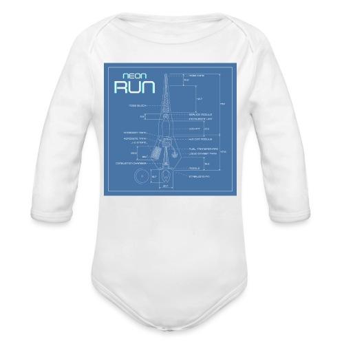 NeonRun blueprint - Baby bio-rompertje met lange mouwen