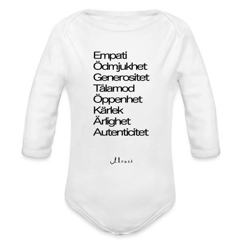 Egenskaper lista - Organic Longsleeve Baby Bodysuit