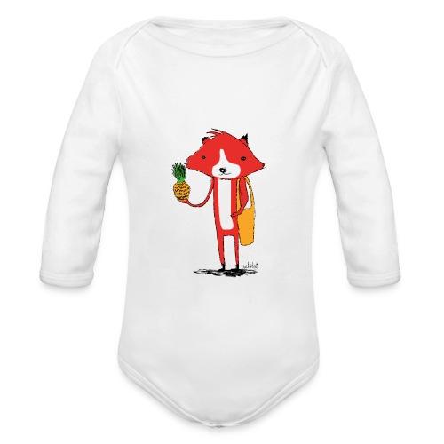 Ananasfüchslein - Baby Bio-Langarm-Body