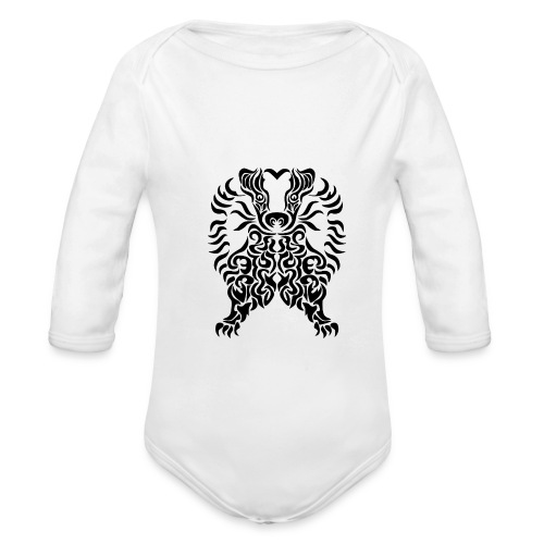 Dachs - Baby Bio-Langarm-Body