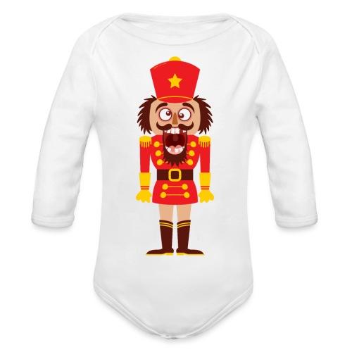 A Christmas nutcracker is a tooth cracker - Organic Longsleeve Baby Bodysuit
