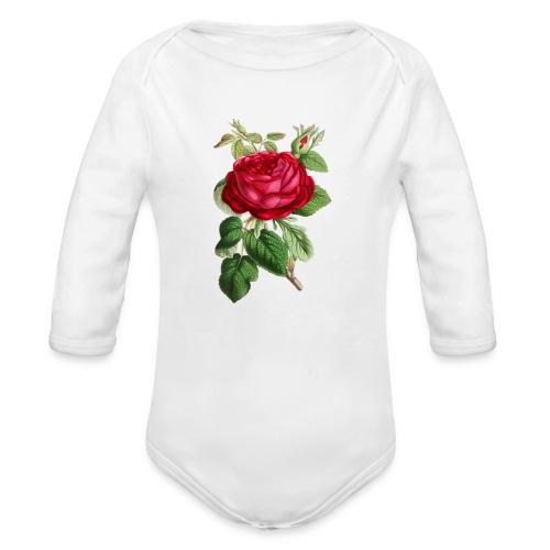 Fin ros - Ekologisk långärmad babybody