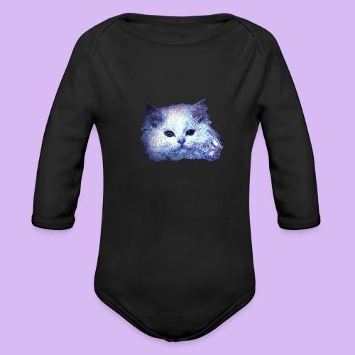 Gatto glitter - Body ecologico per neonato a manica lunga