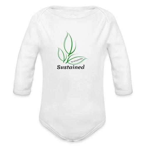 Sustained Sweatshirt - Langærmet babybody, økologisk bomuld