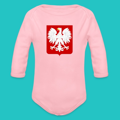 Koszulka z godłem Polski - Ekologiczne body niemowlęce z długim rękawem