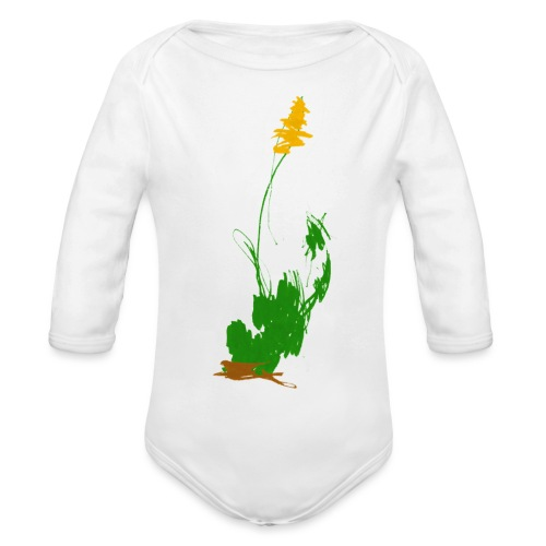 was pflanzliches - Baby Bio-Langarm-Body