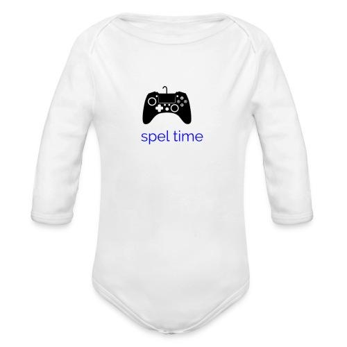 spel time - Ekologisk långärmad babybody