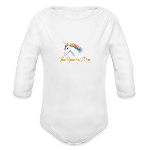 unicorn - Organic Longsleeve Baby Bodysuit