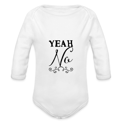 Yeah No - Organic Longsleeve Baby Bodysuit