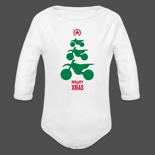 Merry Christmas - Frohe Weihnachten - Organic Longsleeve Baby Bodysuit