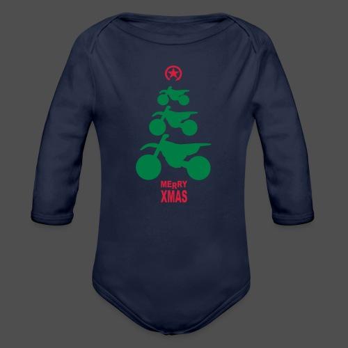 Merry Christmas - Frohe Weihnachten - Ekologiczne body niemowlęce z długim rękawem