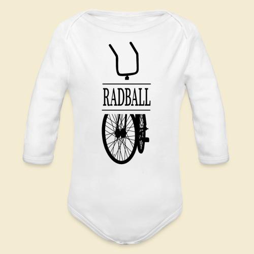 Radball | Retro Black - Baby Bio-Langarm-Body