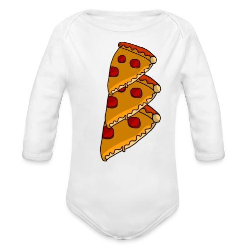 pizza - Langærmet babybody, økologisk bomuld
