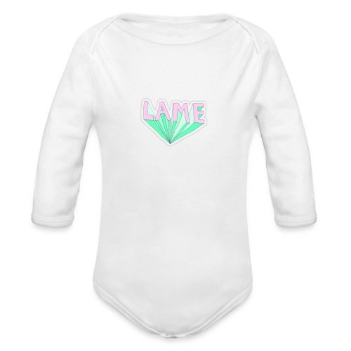 LAME tshirt - Langærmet babybody, økologisk bomuld