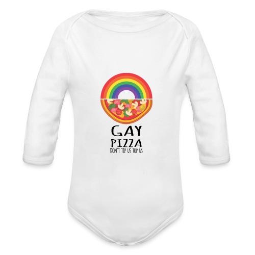 Gay Pizza | LGBT | Pride - Baby Bio-Langarm-Body