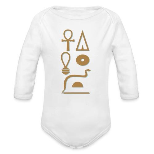 Hieroglyphen - Leben wie Re ewig - Baby Bio-Langarm-Body