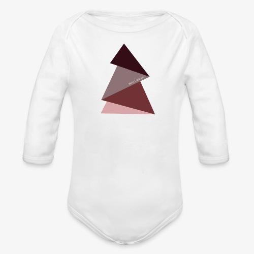 fir triangles 2 - Organic Longsleeve Baby Bodysuit