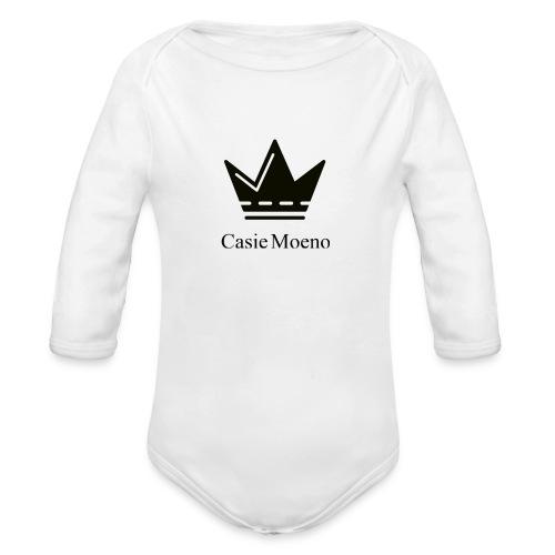 Casie Moeno button - Organic Longsleeve Baby Bodysuit