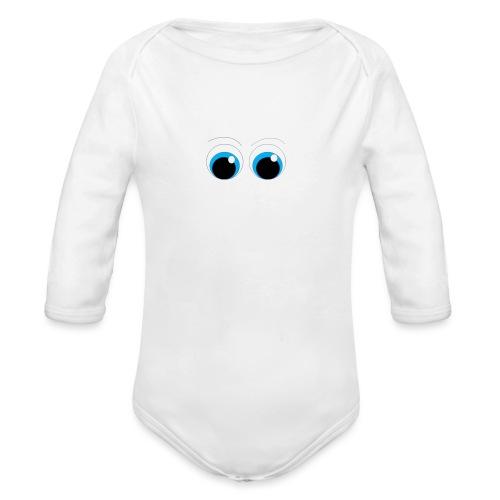 ojitos lindos - Body orgánico de manga larga para bebé