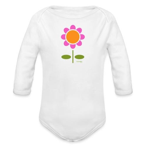 Retro flower - Vauvan pitkähihainen luomu-body