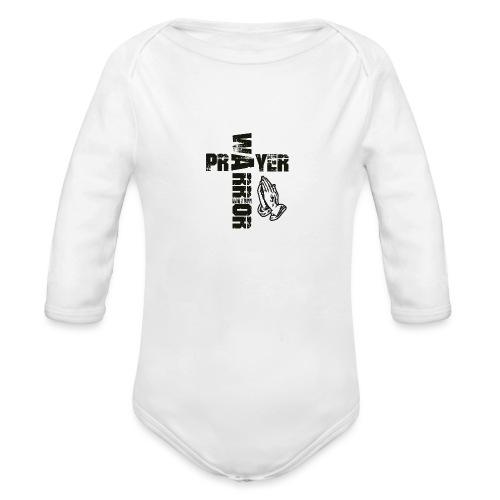 Prayer Warrior Black Special - Baby Bio-Langarm-Body