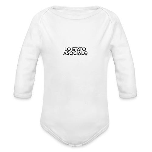 Spilla con logo - Body ecologico per neonato a manica lunga