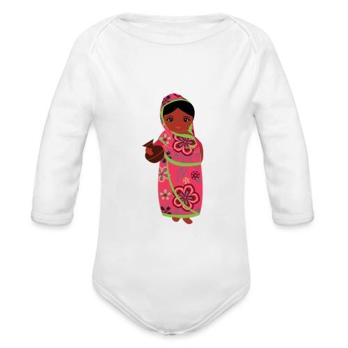Lovedesh Art - Ira Kolshi Doll - Organic Longsleeve Baby Bodysuit