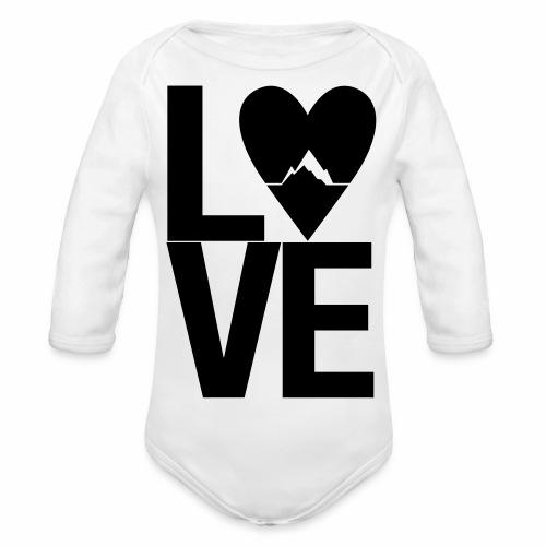 Mountain Love - Baby Bio-Langarm-Body