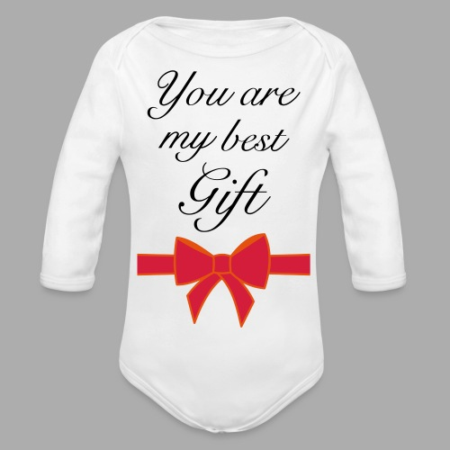 you are my best gift - Organic Longsleeve Baby Bodysuit