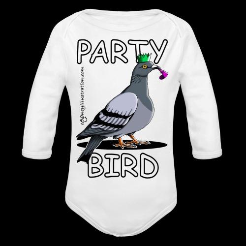 Party Bird - Organic Longsleeve Baby Bodysuit
