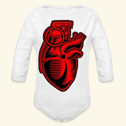 Grenade Heart - Baby Bio-Langarm-Body