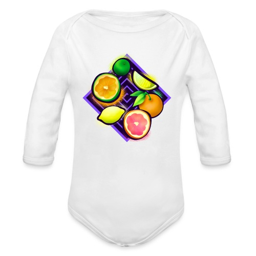 Citrus Pop Art - Baby Bio-Langarm-Body
