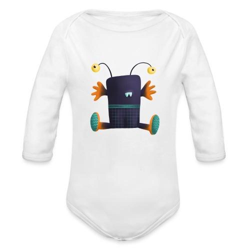 Umarme mich Monster mit Stielaugen - Baby Bio-Langarm-Body