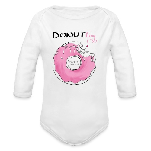 donuthing Maus - Baby Bio-Langarm-Body