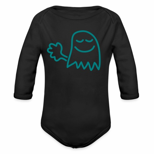 Farts are little ghosts... - Organic Longsleeve Baby Bodysuit
