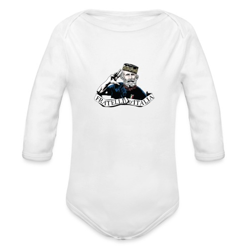 Forza Azzurri - Bebè - Body ecologico per neonato a manica lunga