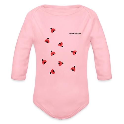 ladybird 2 design tc - Organic Longsleeve Baby Bodysuit