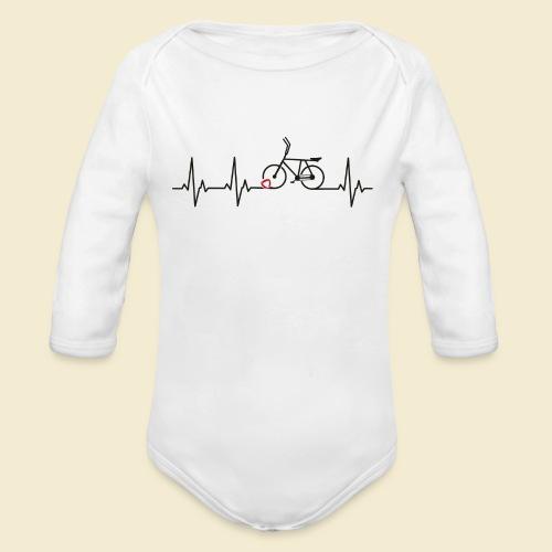Radball | Heart Monitor Black - Baby Bio-Langarm-Body