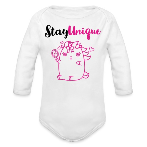 Stay Unique - Baby Bio-Langarm-Body