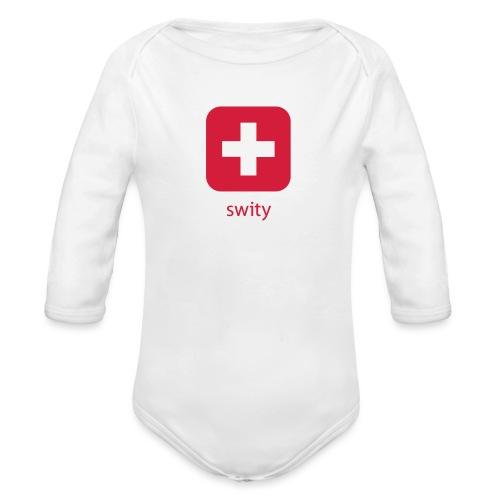 Schweizer Wappen Icon swity - Baby Bio-Langarm-Body