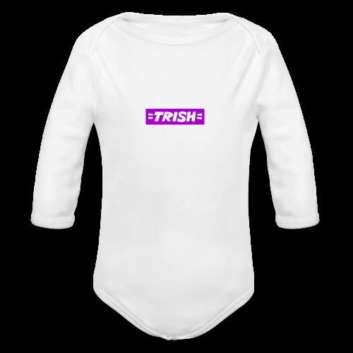 trish logo - Organic Longsleeve Baby Bodysuit