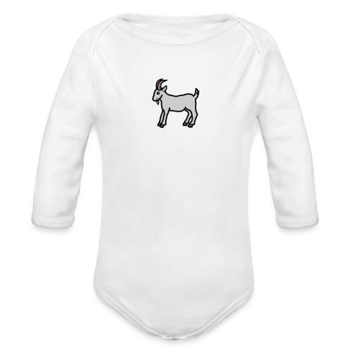 Ged T-shirt dame - Langærmet babybody, økologisk bomuld