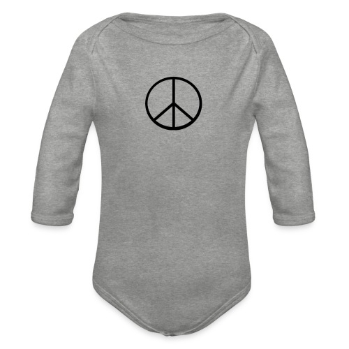 peace - Ekologisk långärmad babybody