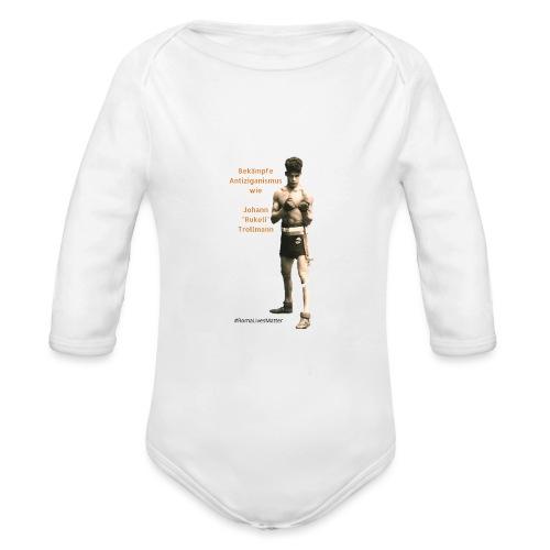 Fight Antigypsyism Johann Rukeli Trollmann - Organic Longsleeve Baby Bodysuit